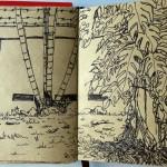 Journal Sketch จากเส้นหมึกและสีไม้ #1
