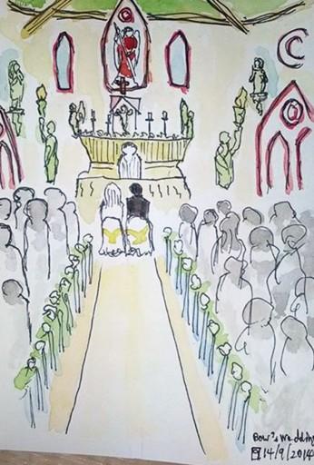 งานแต่งเพื่อนที่ราชบุรี พยายามวาดให้เห็นว่าเป้นงานแต่งงานมากที่สุดเลยไม่เน้นรายละเอียดเท่าไหร่ ...อันที่จริงเน้นไม่เก่งนั่นแหละ(ฮา)